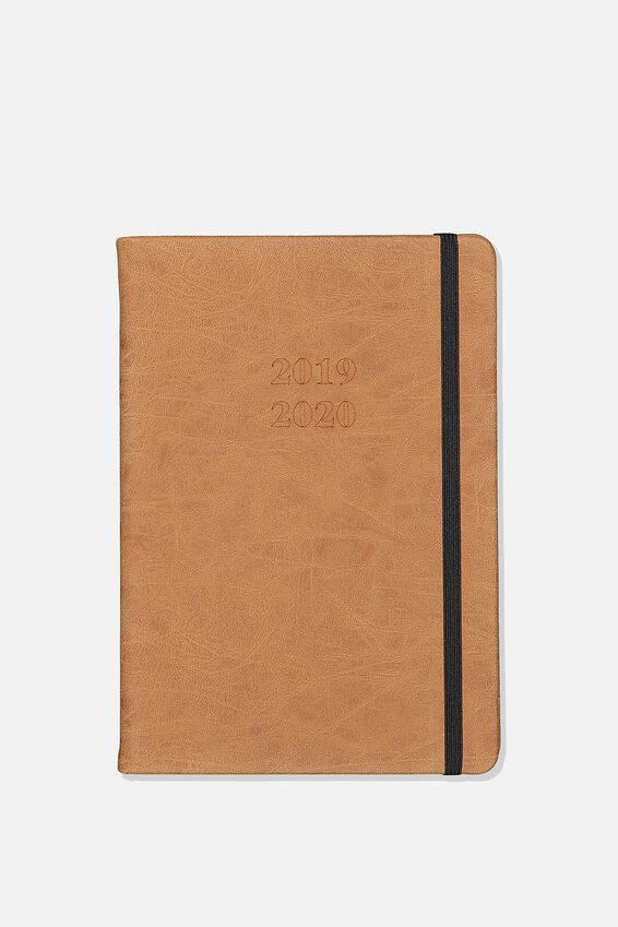 2019 20 A5 Weekly Buffalo Diary, TAN