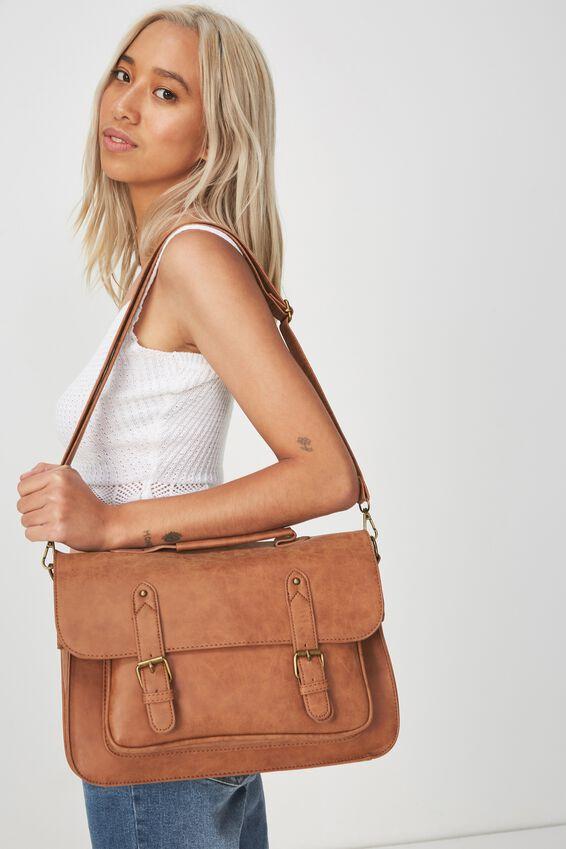 Satchel Bag, MID TAN