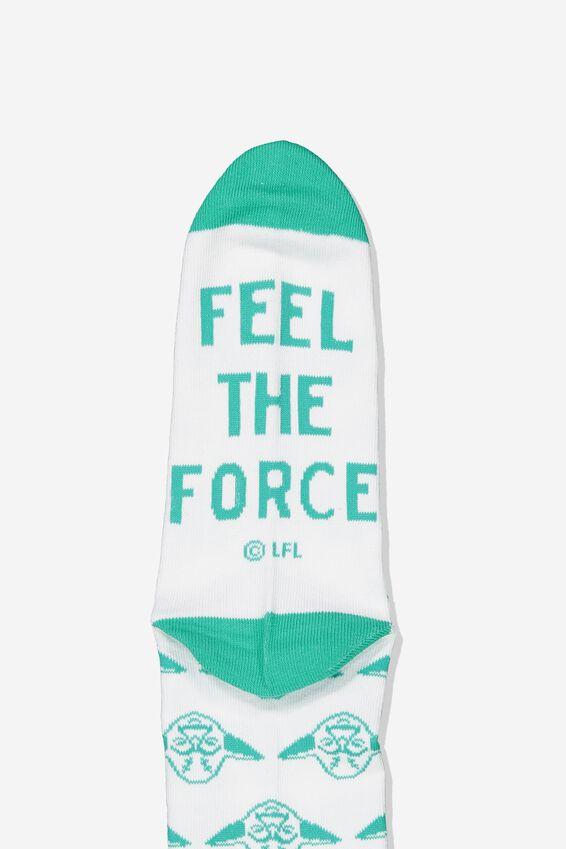 Star Wars Mens Novelty Socks, LCN DIS GREEN YODA