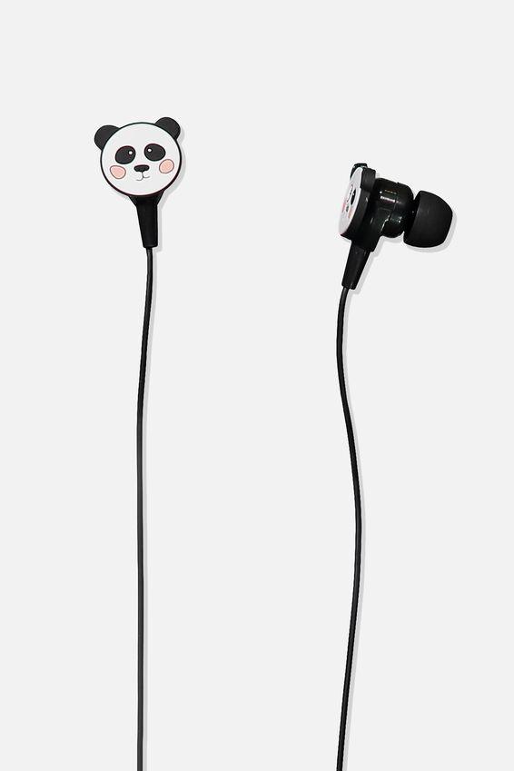 Novelty Earphones, PANDA