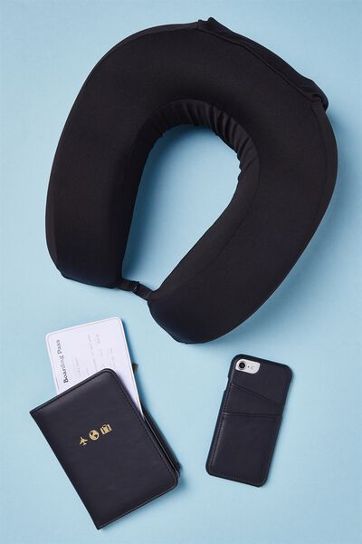 Foam Travel Neck Pillow, BLACK