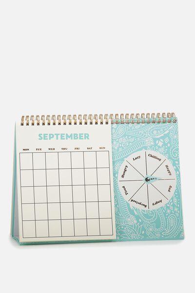 Spin My Wheel Calendar, BLUE LACE