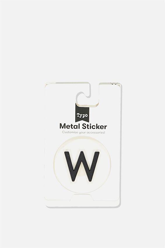 Metal Stickers, BLACK W