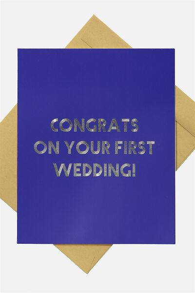 Wedding Card, FIRST WEDDING