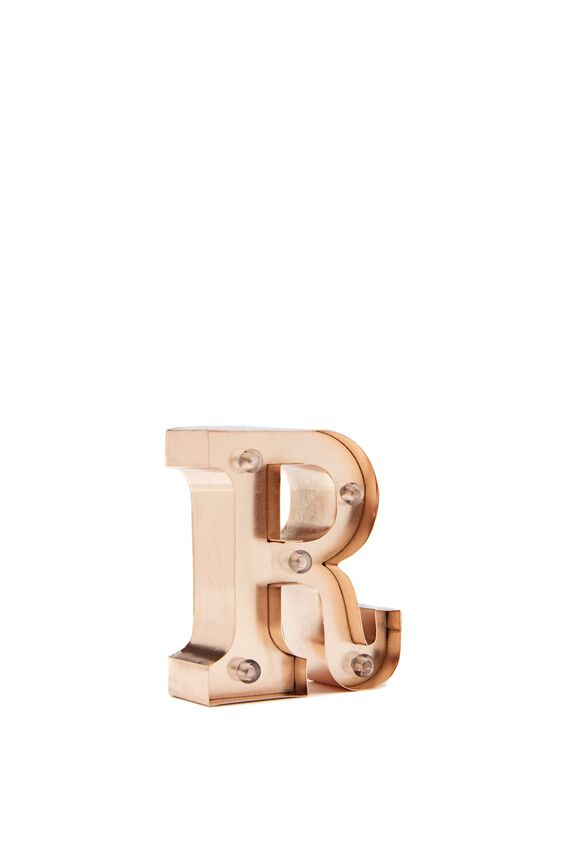 Mini Marquee Letter Lights 10cm, ROSE GOLD R