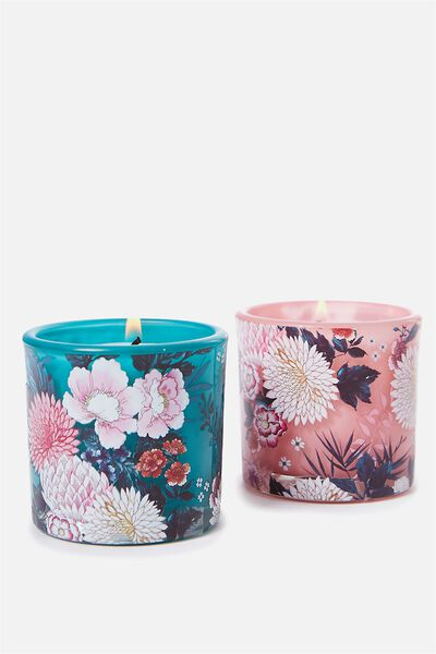 Twin Set Candles, FLORAL