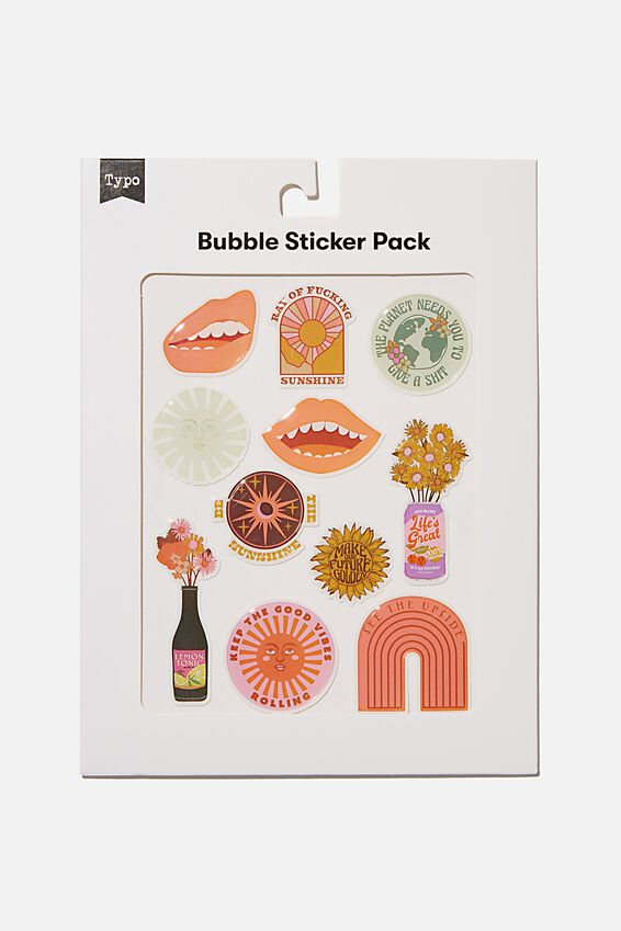 Bubble Sticker Pack, RAY OF SUNSHINE!!