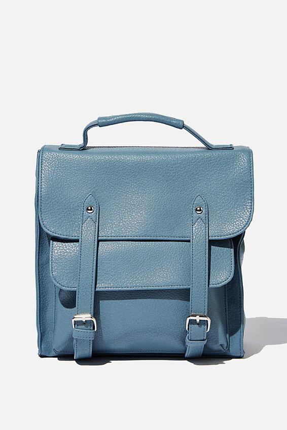 Buffalo Satchel Backpack, PETROL BLUE