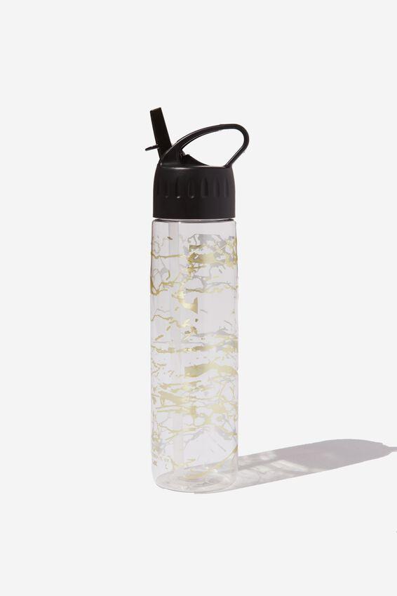 Refresher Water Bottle, FOIL MARBLE