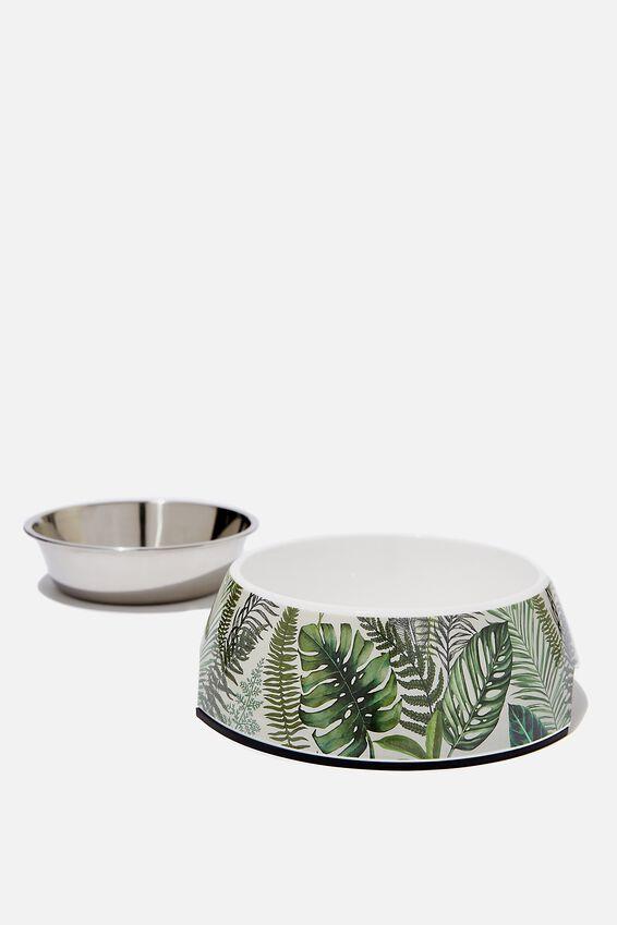 Medium Pet Bowl, FERN FOLIAGE
