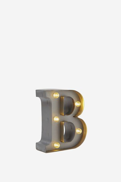 Mini Marquee Letter Lights 10cm, SILVER B