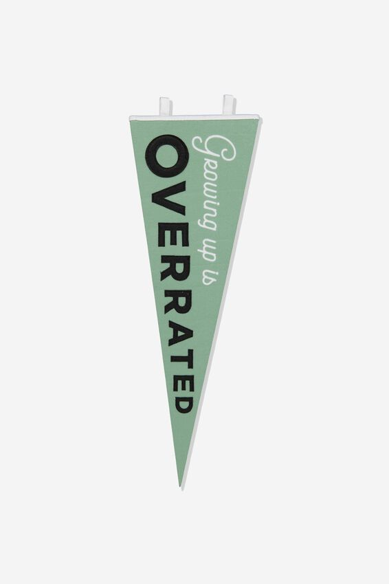 Pennant Wall Flag, GROWING UP