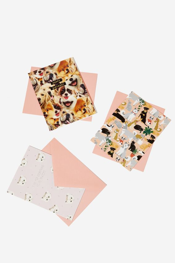 Mixed Card Set, CATS & DOGS