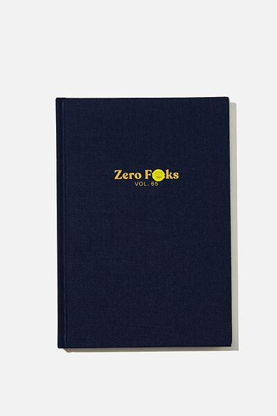 A5 Oxford Notebook, ZERO FU*CKS!!