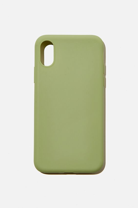 Recycled Phone Case iPhone X, Xs, ALLY GREEN