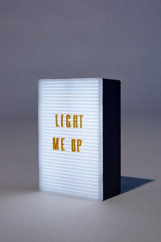 Micro Light Box, WELSH SLATE & MUSTARD