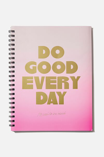 A4 Campus Notebook Dot Internal, DO GOOD EVERYDAY