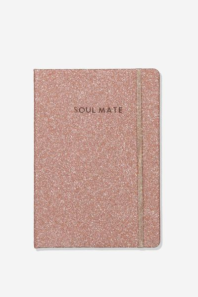 Personalised A5 Buffalo Journal, ROSE GOLD