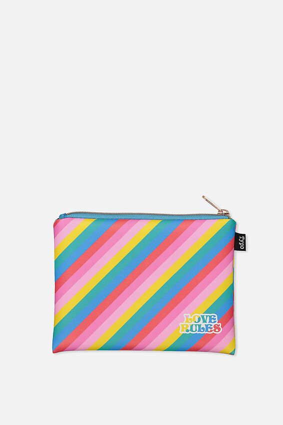 Pu Campus Pencil Case, RAINBOW