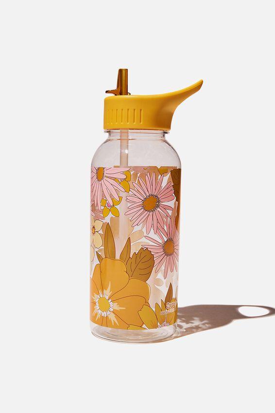 Drink It Up Bottle, STEVIE FLORAL ORANGE & PINK