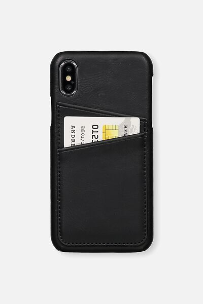 The Phone Cardholder  X, BLACK