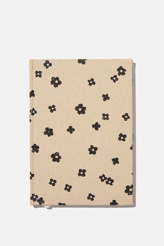 A5 Oxford Notebook, CHARLIE FLORAL OAT MILK