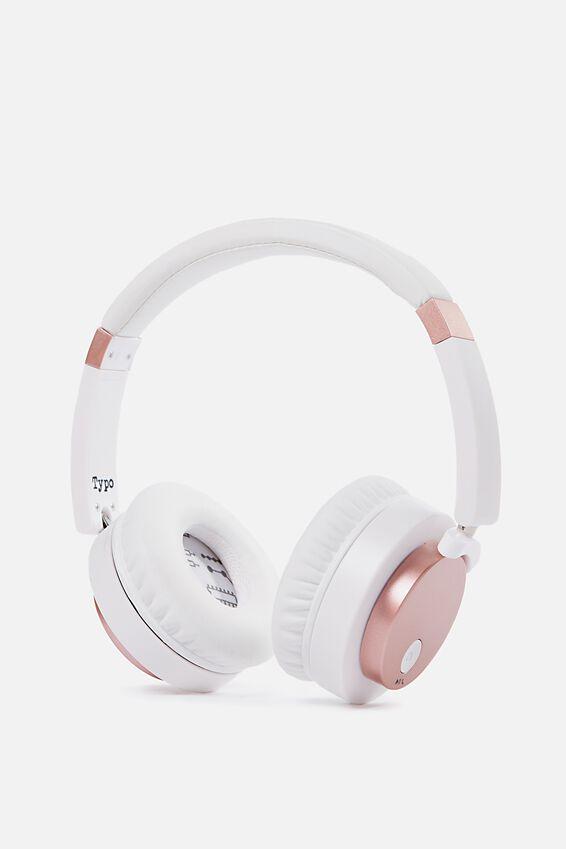 Signal Headphone, WHITE & ROSE GOLD