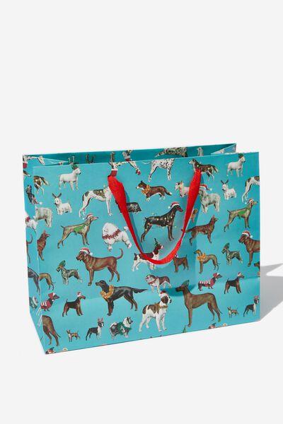 Stuff It Gift Bag - Medium, FESTIVE DOGS
