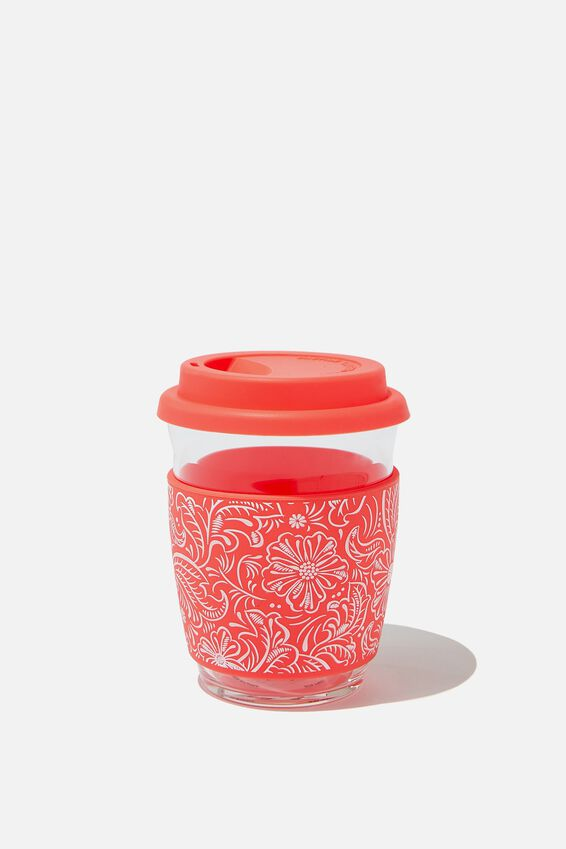 All Day Travel Cup 12Oz, CORAL LACE