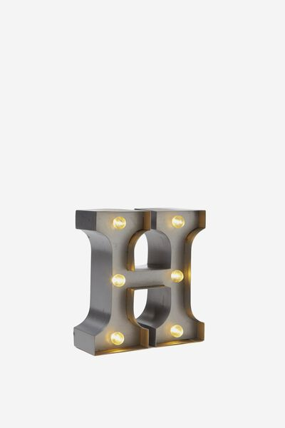 Mini Marquee Letter Lights 10cm, SILVER H
