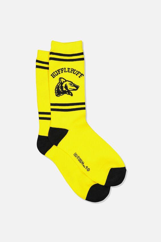 Harry Potter Mens Novelty Socks, LCN WB HUFFLEPUFF HOUSE