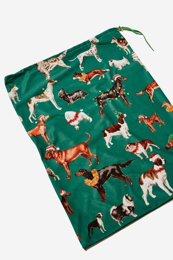 Christmas Sack, GREEN DOGGOS