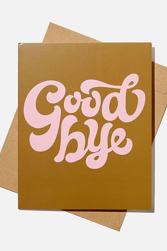Goodbye Card, GOODBYE 70'S PLASTIC PINK