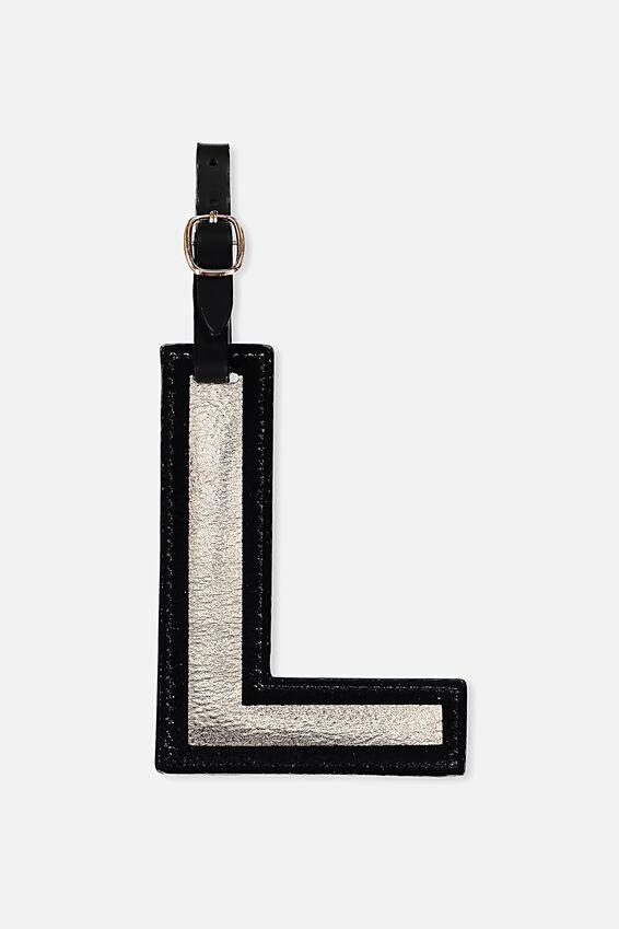 Shaped Alphabet Luggage Tag, L