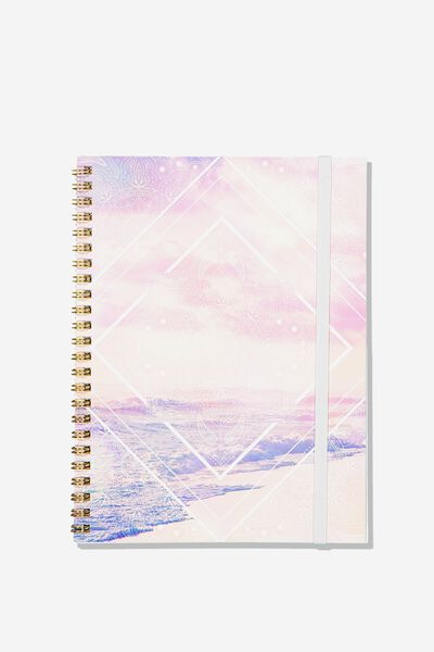 A5 Spinout Notebook - 120 Pages, MANDALA OCEAN