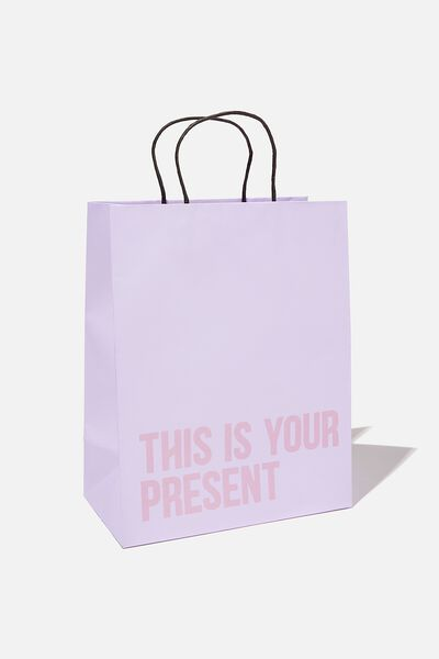 Get Stuffed Gift Bag - Medium, LILAC  DRIFTWOOD THIS IS YOUR PRESENT