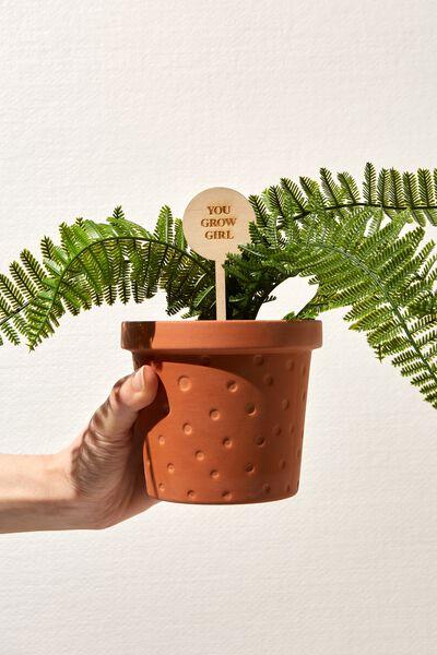 Message Pot Planter, TERRACOTTA
