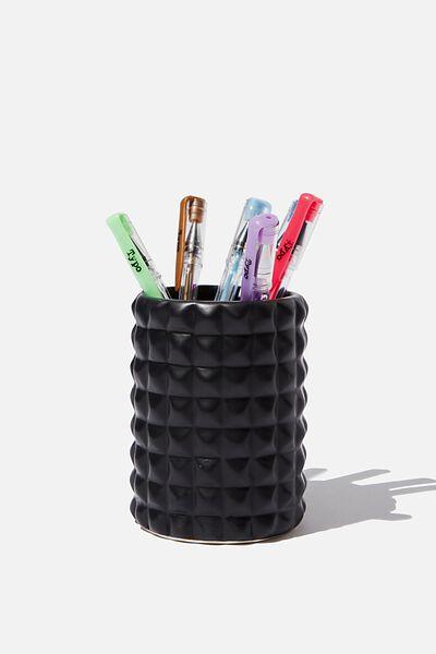 Pen Holder, BLACK FACETED