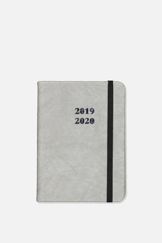 2019 20 A6 Weekly Buffalo Diary, GREY