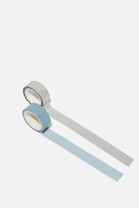 Washi Tape 2Pk, DUSTY BLUE