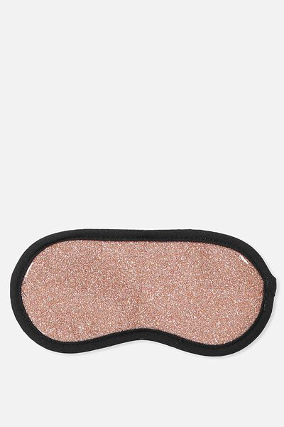 Easy On The Eye Sleep Mask, ROSE GOLD GLITTER