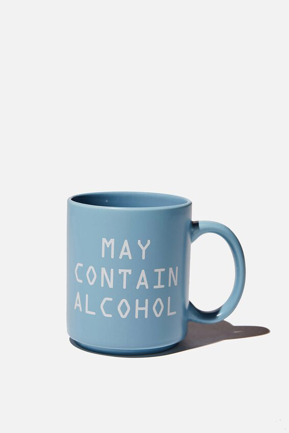 Daily Mug, MAY CONTAIN ALCOHOL! DENIM BLUE