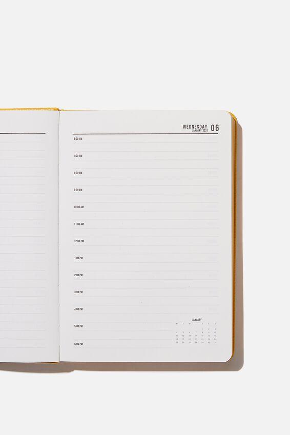 2021 A5 Daily Buffalo Diary, MUSTARD