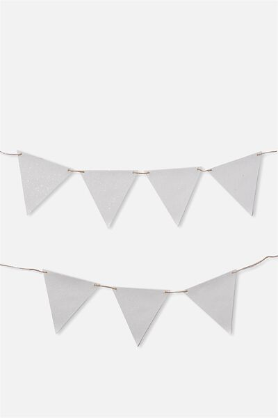 Diy Fabric Bunting, CHUNKY WHITE IRIDESCENT