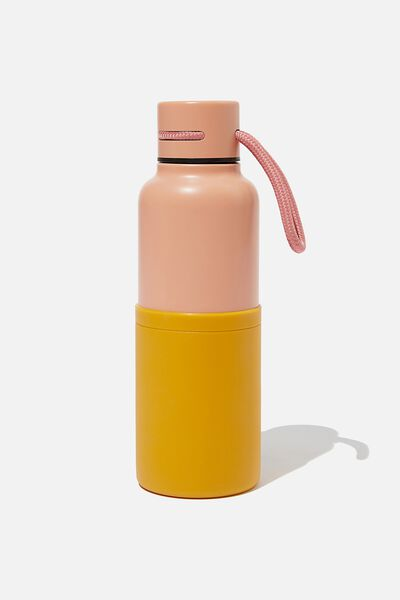 The Loop Metal Drink Bottle, PINK MUSTARD