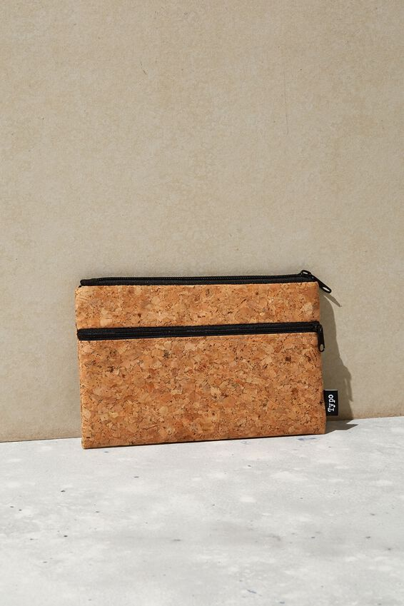 Archer Pencil Case, CORK