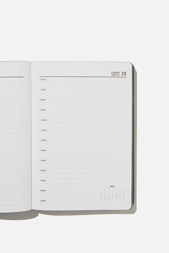 2021 Soft A5 Daily Buffalo Diary, JET BLACK