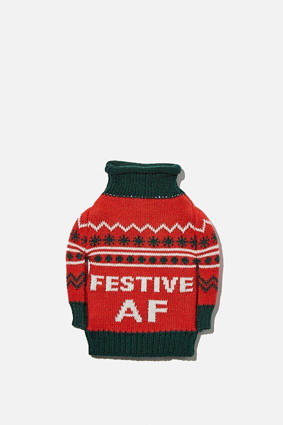 Wine Sweater Bag, FESTIVE AF!!
