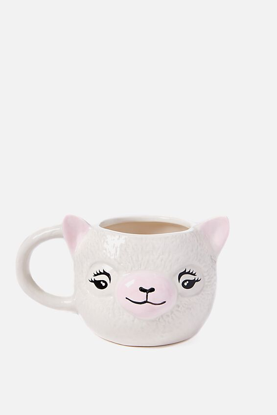 Novelty Shaped Mug, ALPACA HEAD