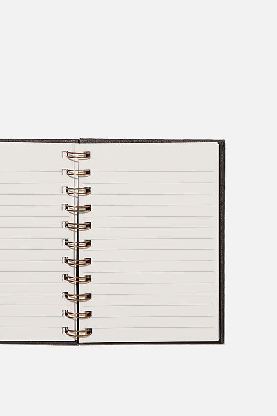 Mini Stone Paper Notebook, BLACK TEXTURE